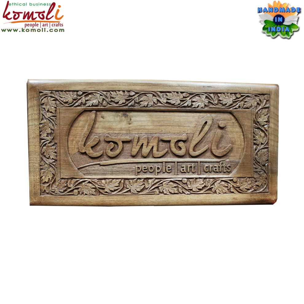 Custom walnut wood carving decorative wooden plaque name plate