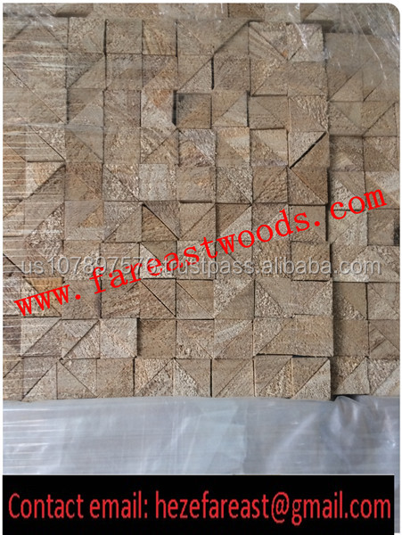 Customized paulownia wooden right triangle shape chamfer strip