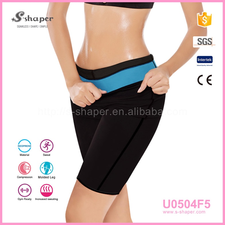 Plus Size Hot Thermo Women Sweat Sauna Sexy Slimming Shaper Short Yoga Fitness Neoprene Pants