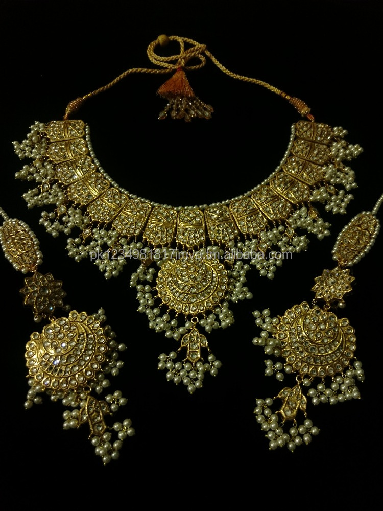 Latest Thappa Kundan Necklace Sets 2017