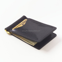 Mens Genuine Leather Magnet Money Clip Wallet / Customized High Quality Money Clip Tyvek Wallet