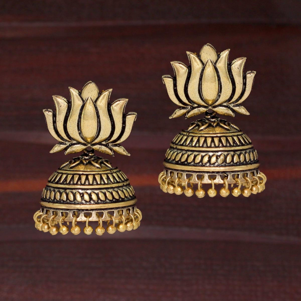 Jaipur Mart Wholesale Oxidised Gold Plated Jewelry Indian Traditional Design Jhumka Earrings for Fashion Women & Girls