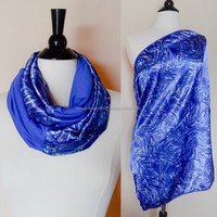 Nursing scarf - nursing cover - blue breastfeeding cover - baby shower gift - nursing cover scarf - new mom gift - infinity nurs