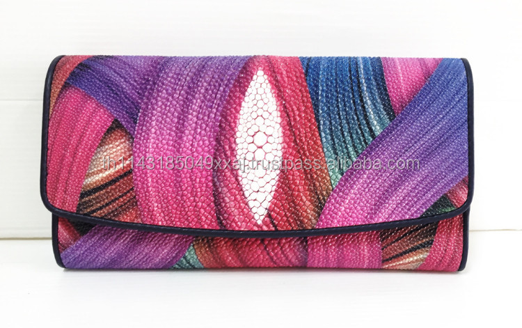 LADIES WALLETS, HIGH QUALITY STINGRAY WALLETS , BEAUTIFULLY MODERN PATTERNED LONG WALLETS