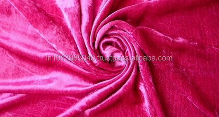 High Quality Top Fashion Red Velvet Fabric