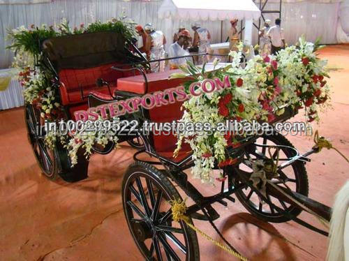 Royal Wedding Horse Baghi/Romantic Royal Horse Drawn Carriage for Wedding/Bridal Entry Horse Drawn Carriage Buggy