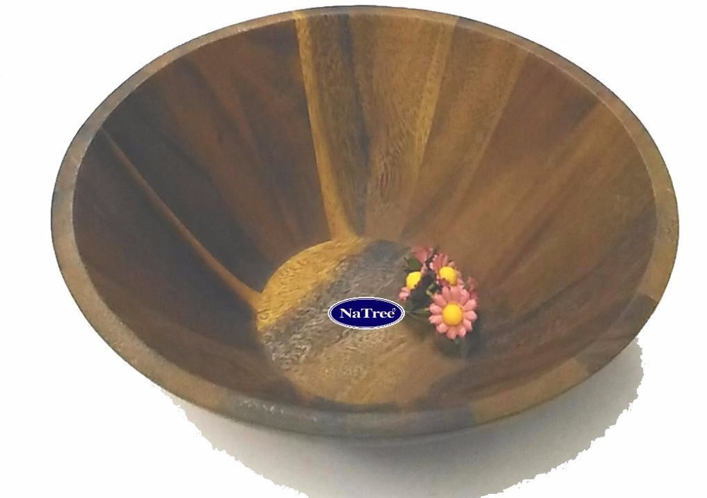 Dark Wood Salad bowl