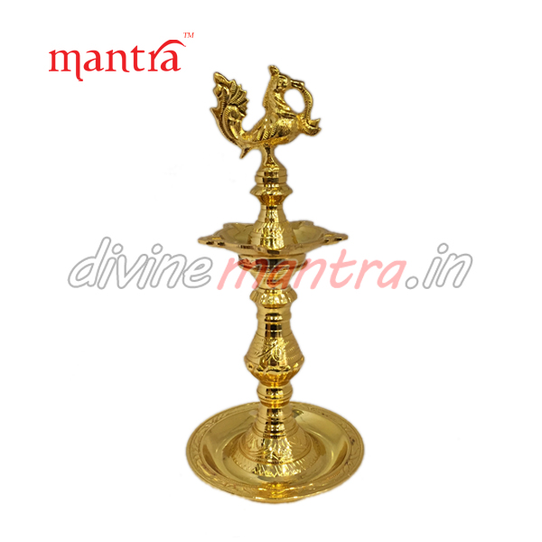 Brass Indian Traditional Oil Lamps ( 24 kt Gold Plated )