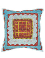 Handmade Patch Work Embroidered kantha Cushion Cover Throw Pillow