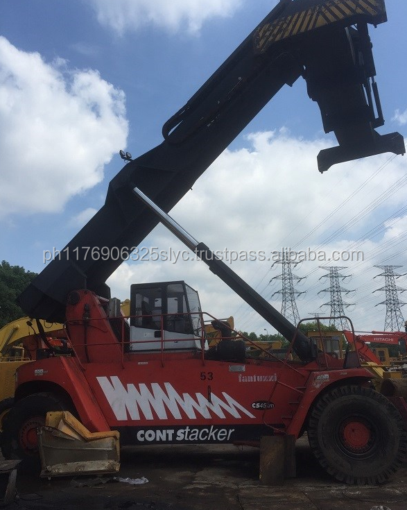 Used Equipment for sale, used Fantuzzi reach stacker 45ton container handler for sale