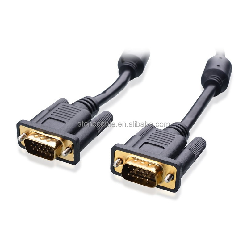 Gold Plated VGA Monitor Cable with Ferrites 6 Feet, 100% Bare Copper