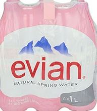 Evian Natural Mineral Water 330ML,500ML, 750ML, 1L,1.5L 2L
