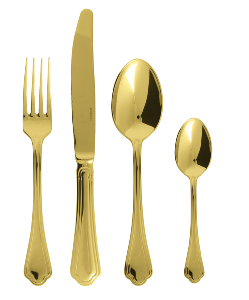 "Sambonet ""Filet Toiras"" Flatware set 24 pcs s.h. PVD GOLD"