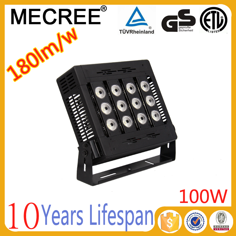 high lumen waterproof dmx rgb outdoor 100w led flood light