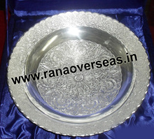 Well-looking Engravings Silver Plated Bowl, Souvenir Gifts, Christmas Gifts