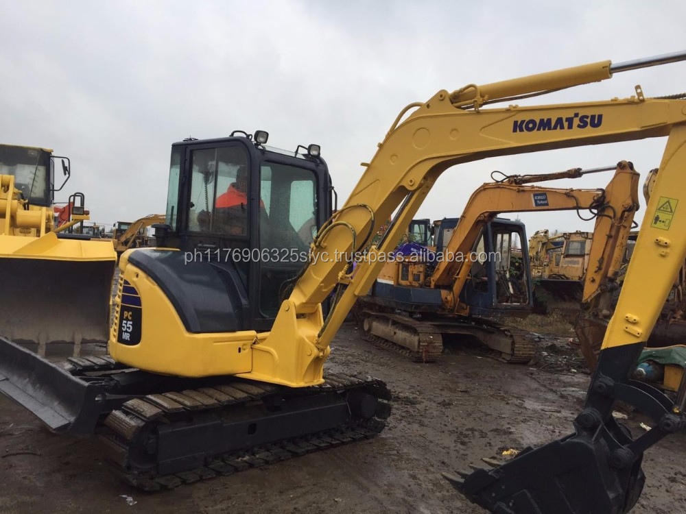 USED KOMATSU JAPAN PC55MR Mini Excavator Prices , PC55 Used Excavator Parts