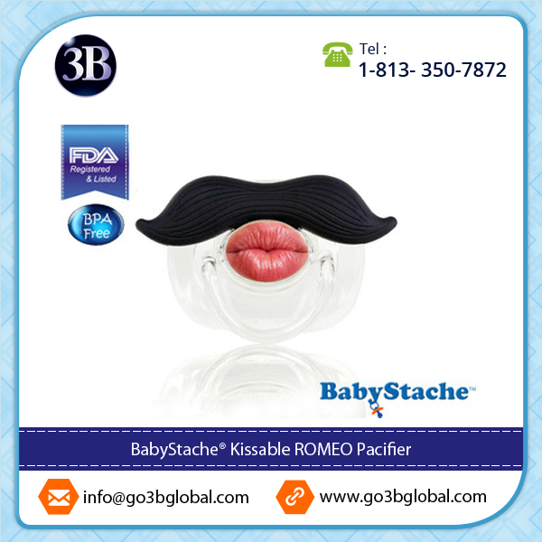 Easy Sterilizing Eco - Friendly Kissable Romeo Black Pacifier