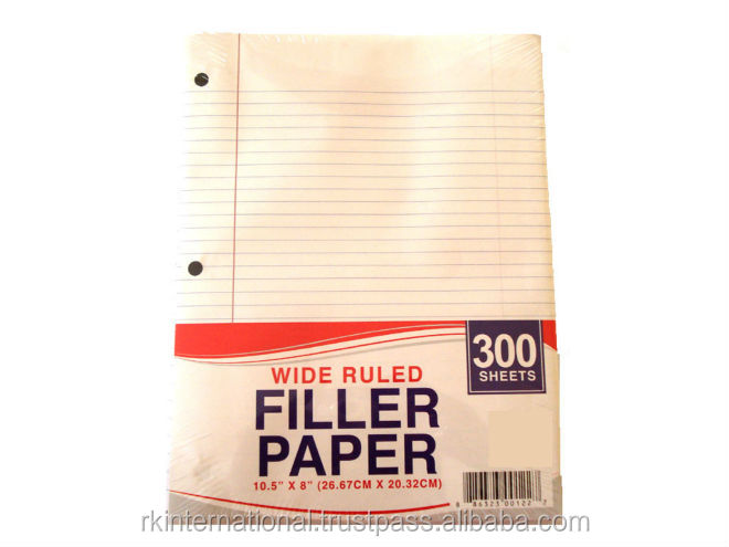 300 Sheets Wide ruled refill paper