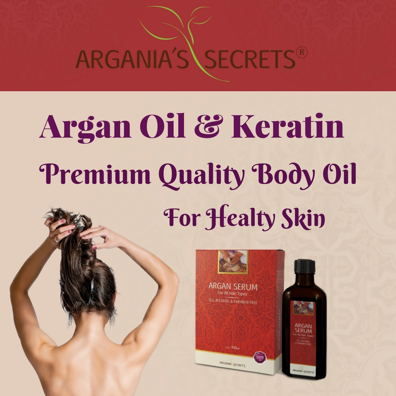 Premium Quality Argan Oil & Keratin Argania's Secrets Series Body Oil For Healty Skin