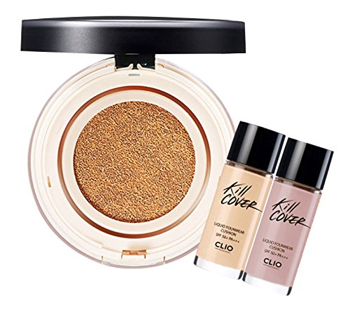 Clio Professional Kill Cover Liquid Founwear Cushion Foundation SPF 50+/Pa+++ Set, Refill & Highest Wear Primer, 2 BP_Lingerie