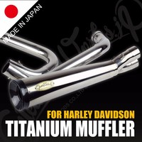 Premium and Sporty motorbike muffler with High-precision made in Japan