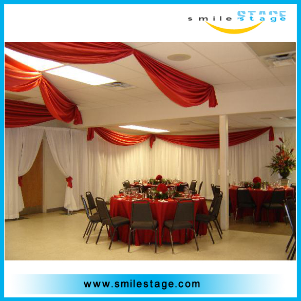 wedding photo booth round pipe and drape system