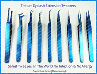 Best Titanium Eyelash Extension Tweezers Number 1 Safe Tweezers with No Side Effect No Allergy No Infection