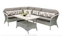 Stylish Synthetic Rattan Sectional Sofa Furniture Brooklyn Set (with aluminium frame)