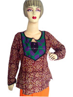 2015 Latest Style All Purpose Cotton Ladies Blouse Top (Kurti Type)