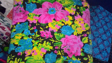 Multi-colored screen printed cotton cambric 92*88 size fabric prints / African printed fabric design