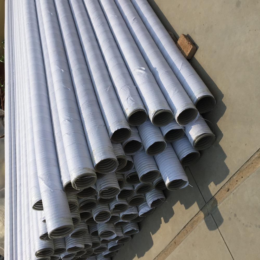 Large diameter pvc suction pipe flexible corrugated