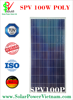 SPV 100w polycrystalline Solar Panel with AR-Coated glass for on-grid solar system ISO Certificate