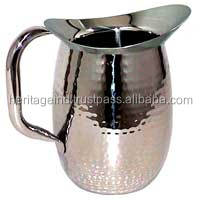 Stainless Steel Hammered Water Jug