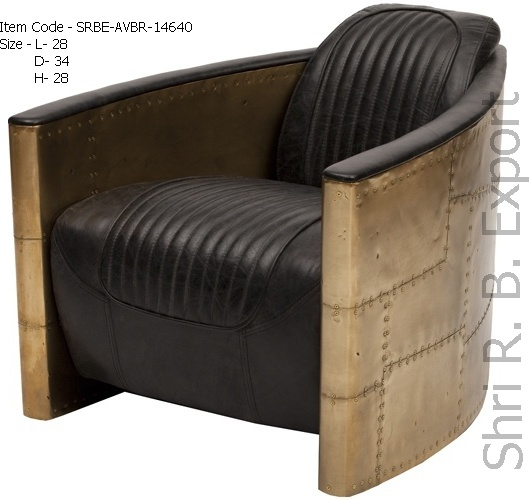 Aviator Tomcat leather sofa chair, neo-classical European-style retro minimalist designer luxury leather sofa armrest