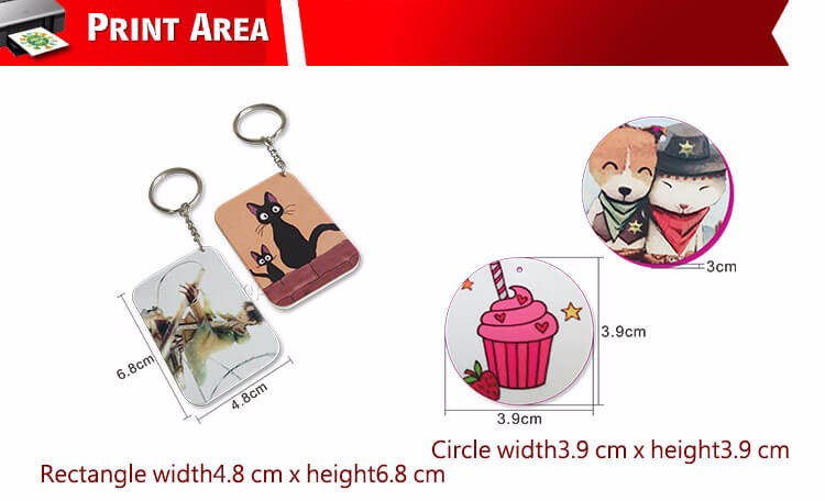 Diy Printing Photo Image Custom Key Ring