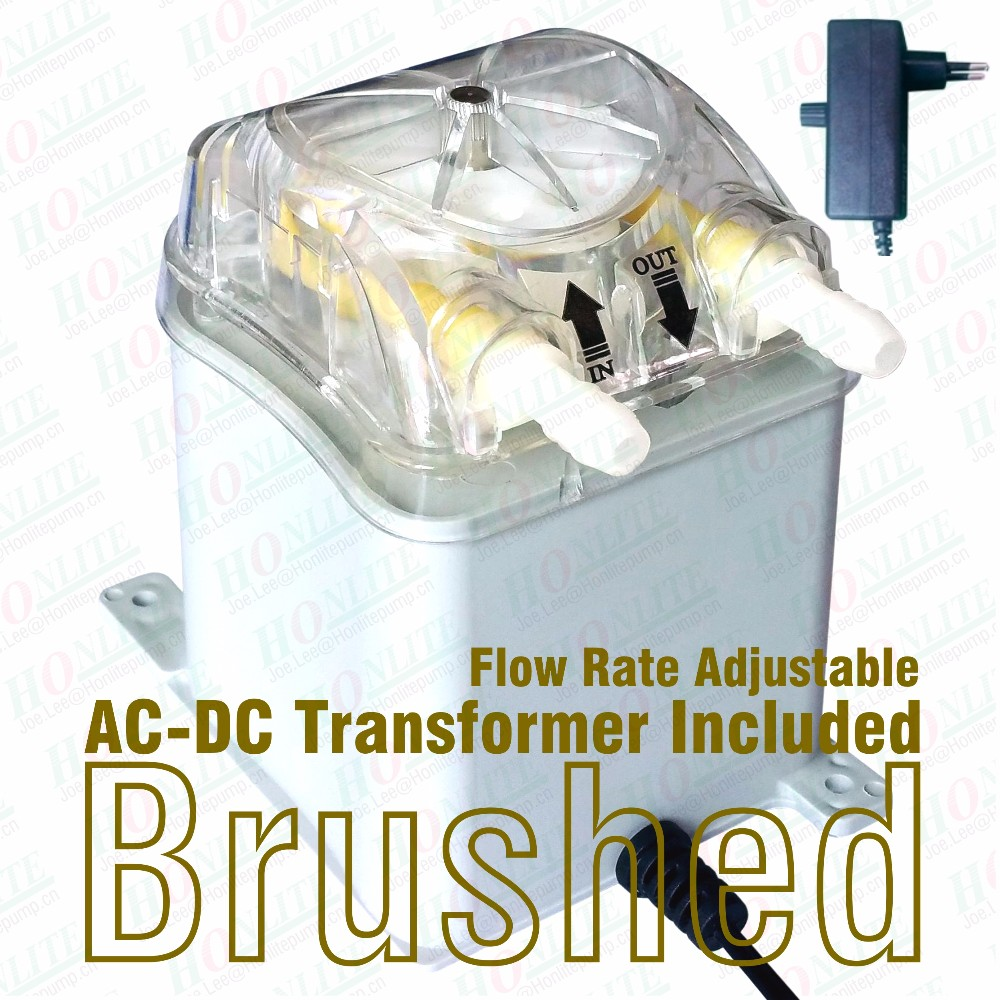 1100ml/mim Peristaltic Pump with 230V AC-DC transfomer, FDA approved PharMed BPT peristaltic tube and exchangeable pump head