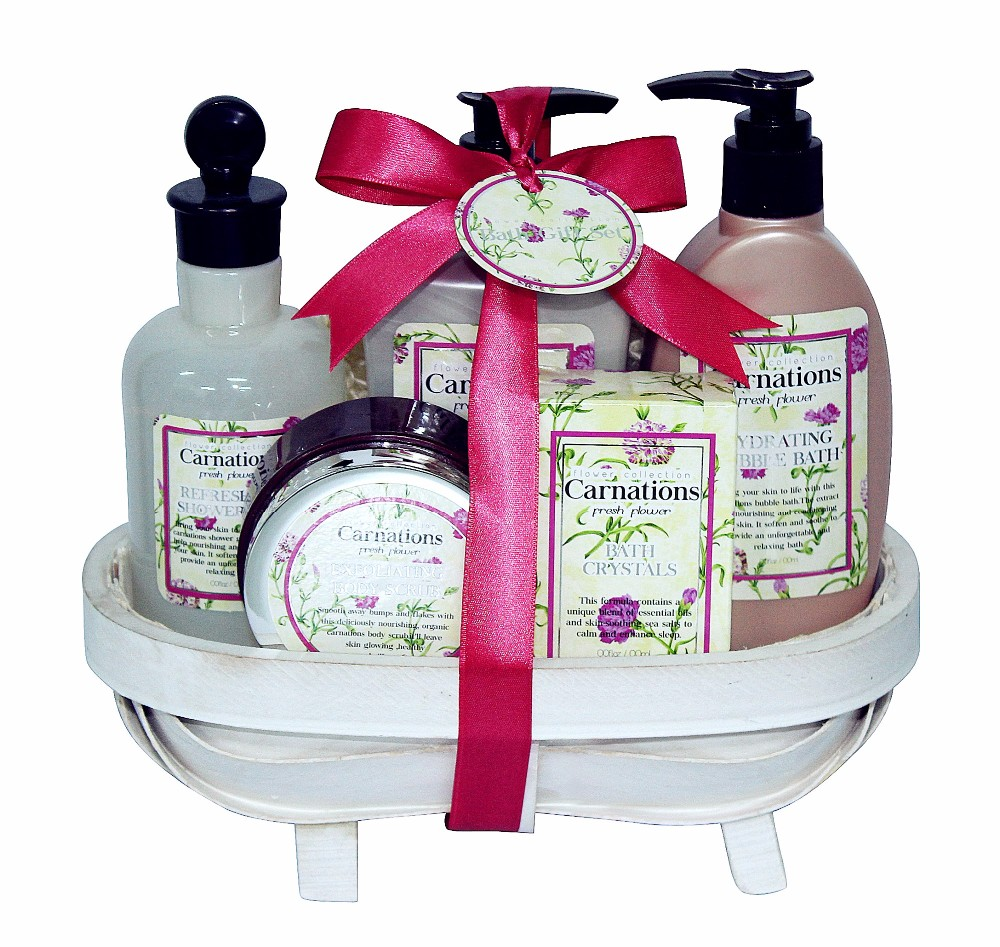 Portable Professional Walmart Supplier Personal Care Bath Gift Set with Carnation Perfumed