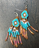 Trendy Crystal mix-color custom fringe earrings handmade seed beads crystal jewelry manufacturer