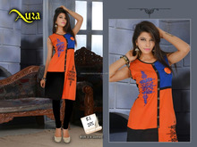 Fancy Designer Embroidery Pure cotton Kurtis