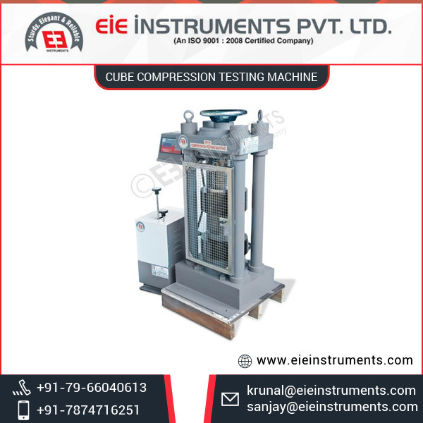 Best Grade Cube Compression Testing Machine with Longer Functional Life
