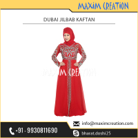 Elegant and Best Designer Red Arabian Dubai Kaftan from Top Ranked Supplier