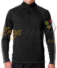 Zegaapparel Customize Sports Zipper Cut and Sew O-Neck Long Sleeve T Shirts Different Colors And Sizes