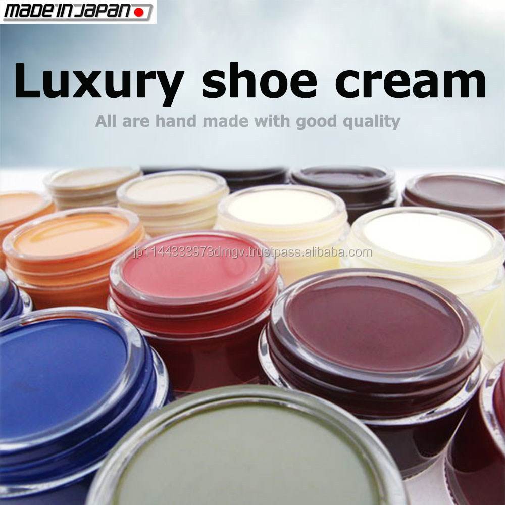 Protective emulsifying shoe polish cream for leather goods , various color available
