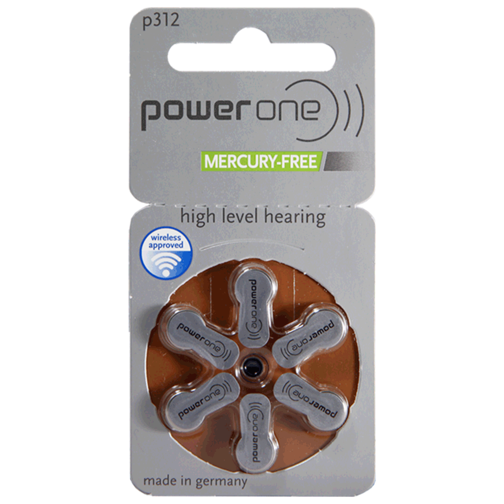 power one p312 Hearing Aid Batteries, PR41