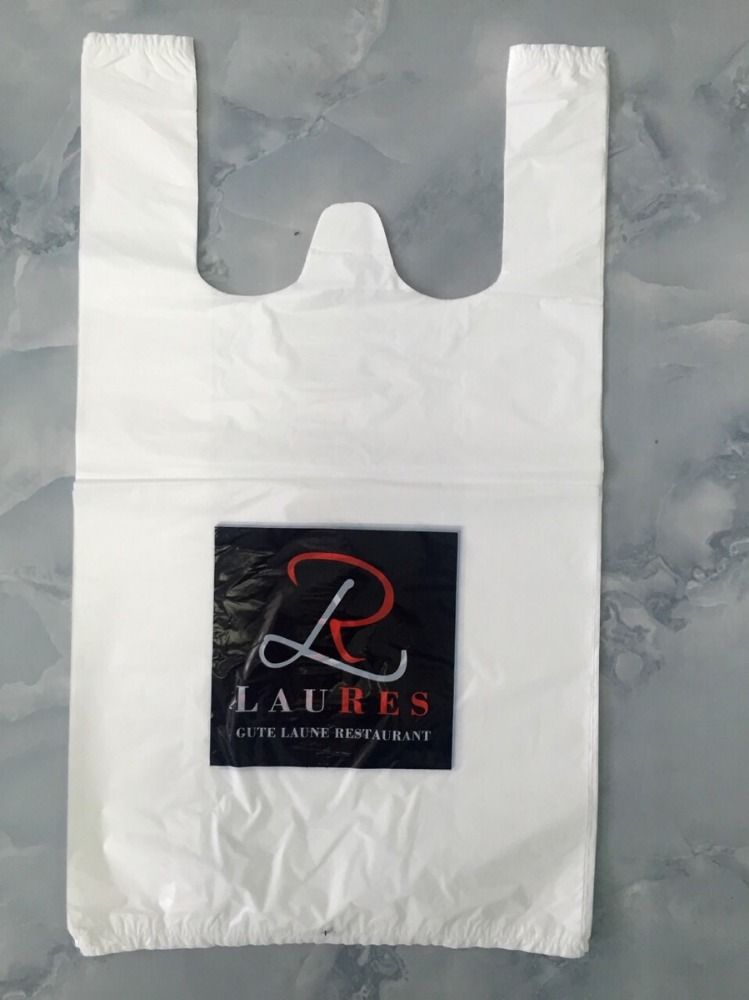 Factory Cost Effective Custom BRAND NAME T Shirt Plastic Bags