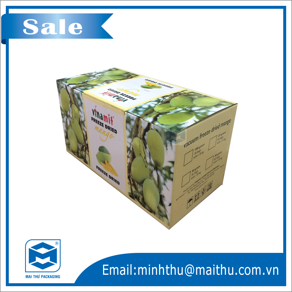 Mangoes packaging corrugated paper boxes.