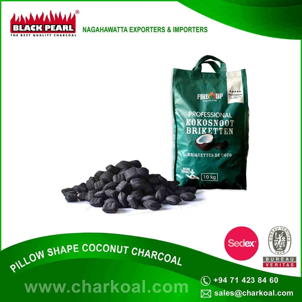 Low Price Pillow Shape Barbeque Charcoal Supplier | Private Label Possible