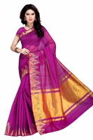 Pure silk purple saree