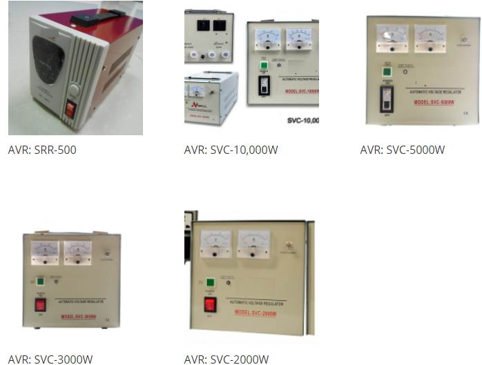 AVR, Voltage Protector, Ground Fault Circuit Interrupter, Wiring Device, Transformer, Panel Board, Contactor Transfer Switch, Ma