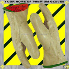 S-M-L-XL Soft Pigskin Winter Insulated Lined Leather Work Driver Glove Men Women